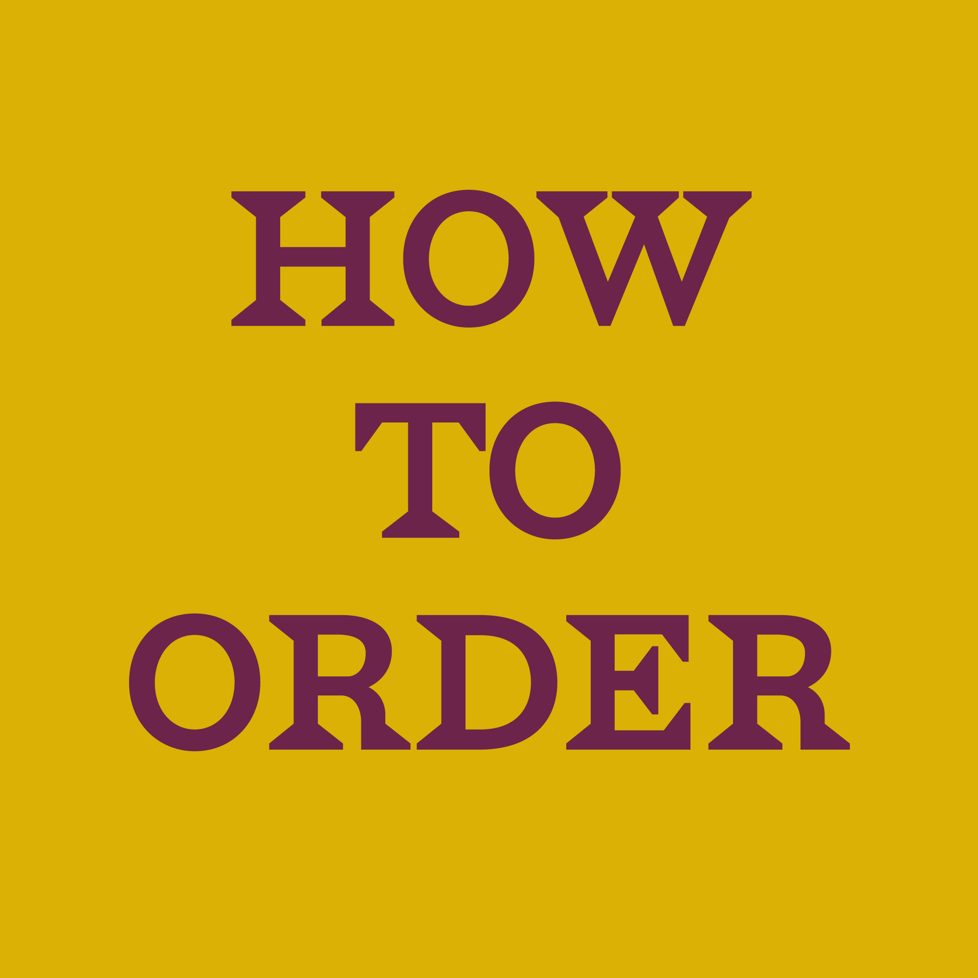 The Vine - How to order